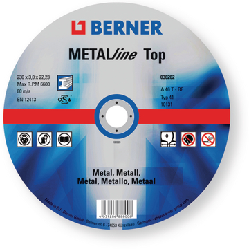 Disc de retezat METALline TOP 230X2,5X22 T